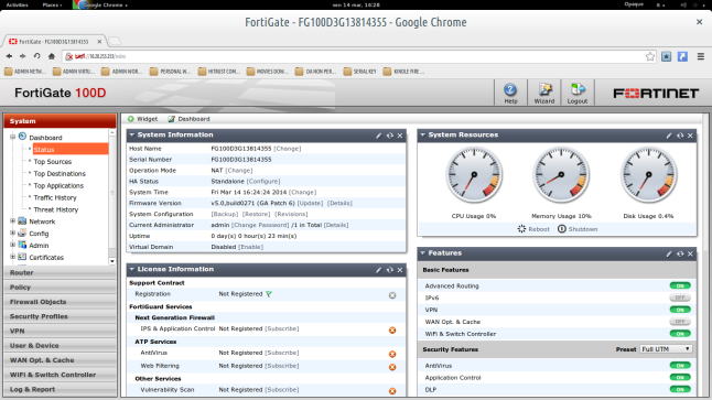 "FORTINET FIREWALL: ""A BASE CONFIGURATION OF A FORTIGATE NEXT"